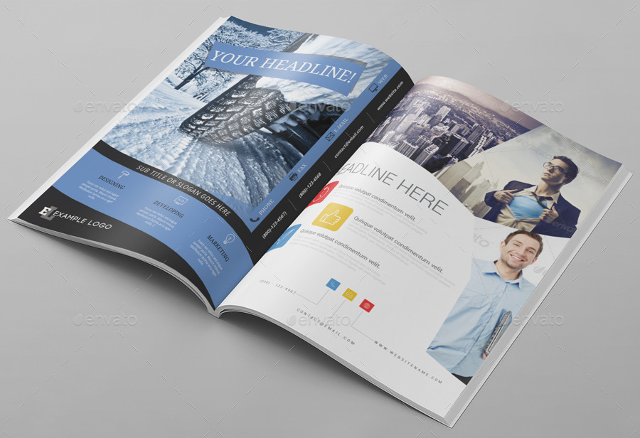 6x Magazine Ad Template Pack by pmvch | GraphicRiver
