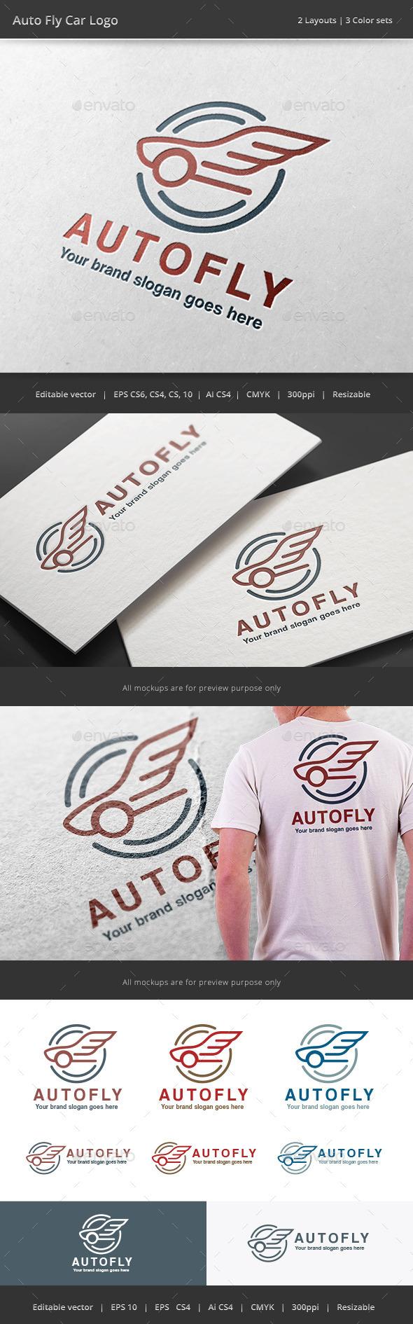 GraphicRiver Auto Fly Car Logo 10929604