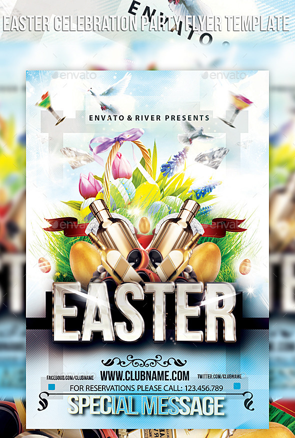 GraphicRiver Easter Celebration Party Flyer Template 10866595