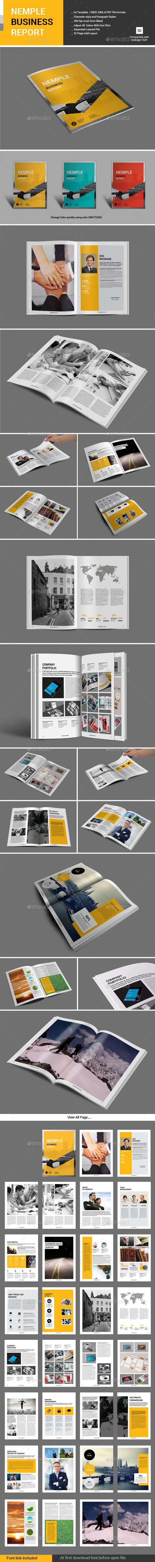 GraphicRiver Nemple Business Report 10929668
