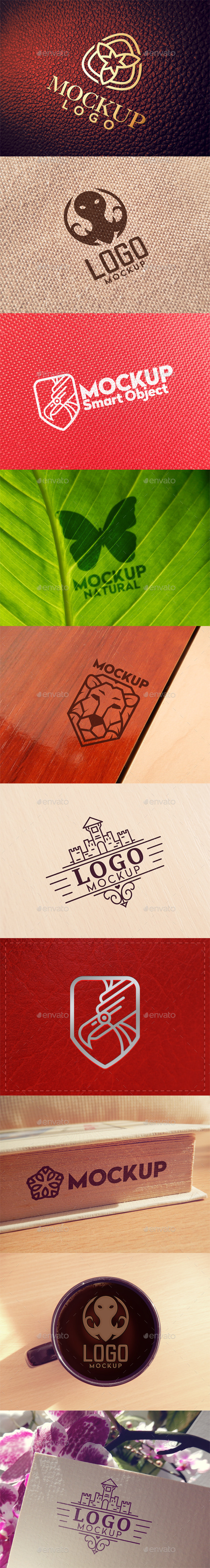 GraphicRiver 10 Logo Mockups 10929686