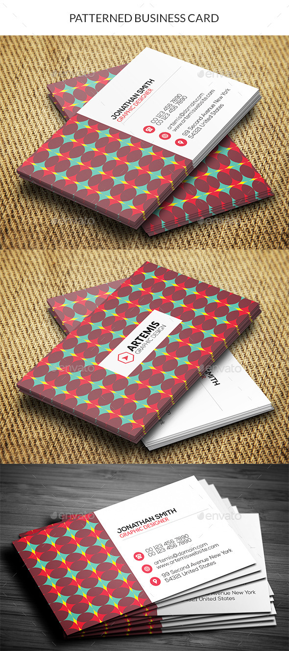 GraphicRiver Patterned Business Card 10929685