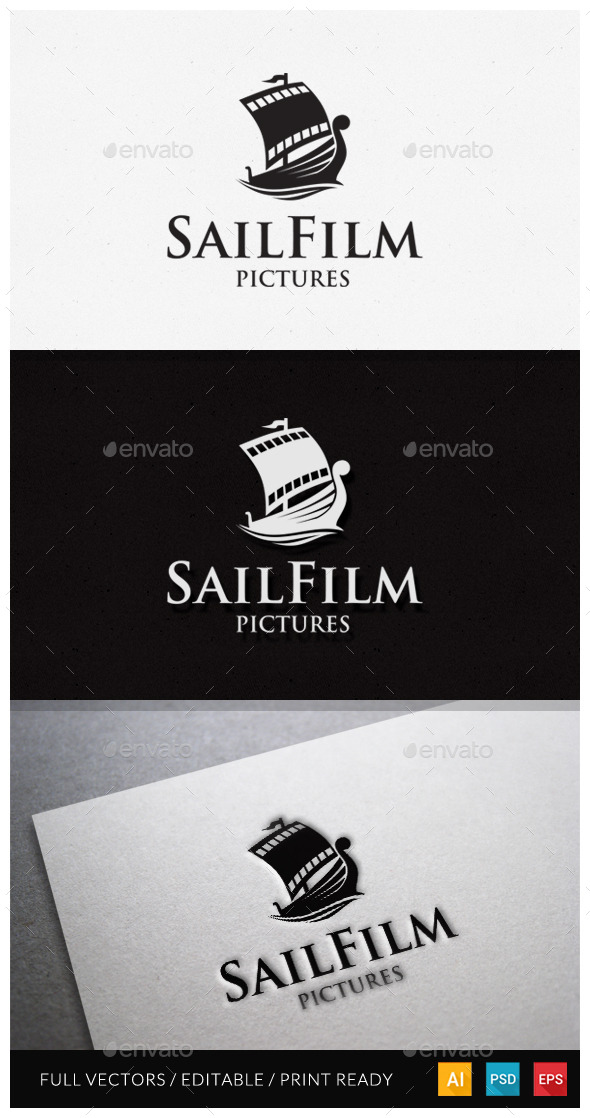 GraphicRiver Sail Film Logo Template 10929775
