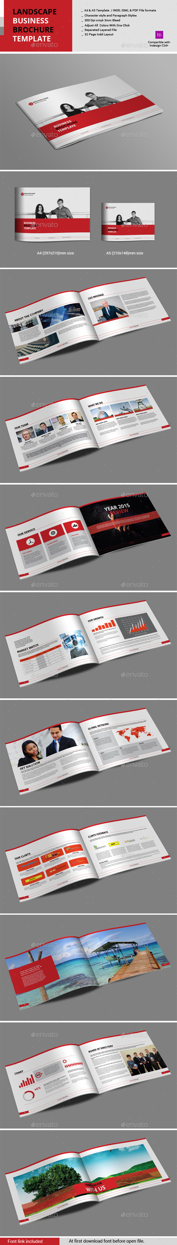GraphicRiver Landscape Business Brochure Template 10929849