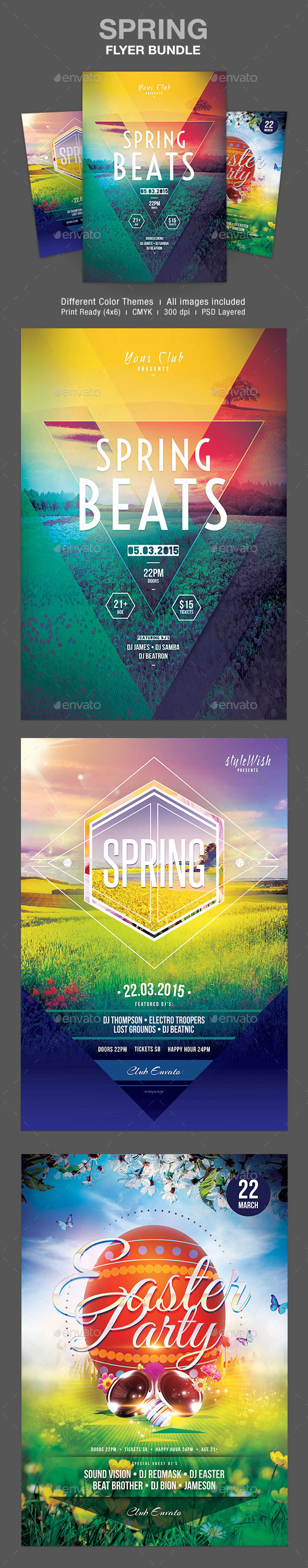 GraphicRiver Spring Flyer Bundle 10929899