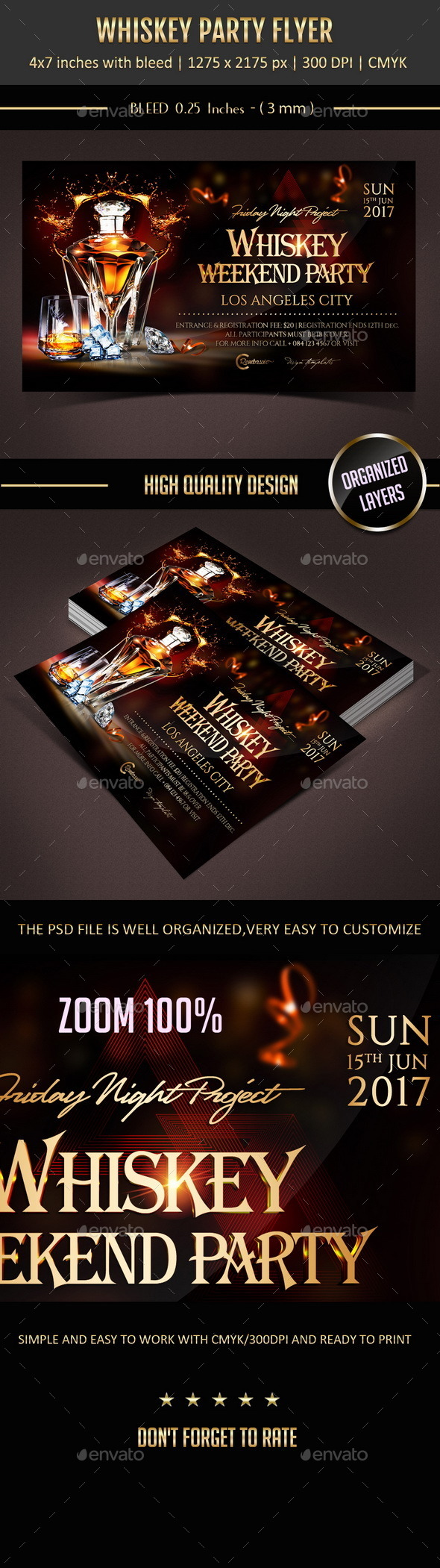 GraphicRiver Whiskey Party Flyer 10929951