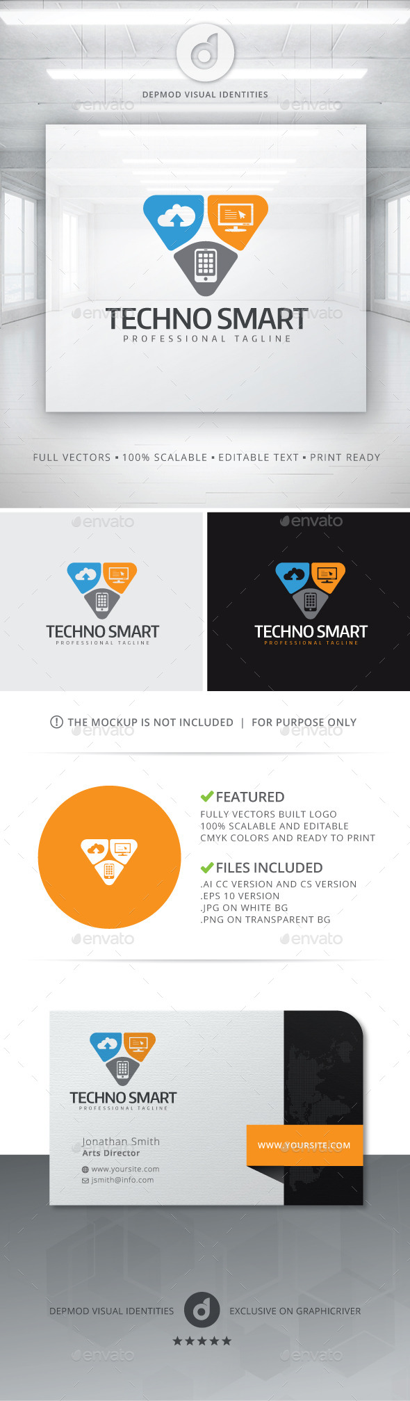 GraphicRiver Techno Smart Logo 10930004