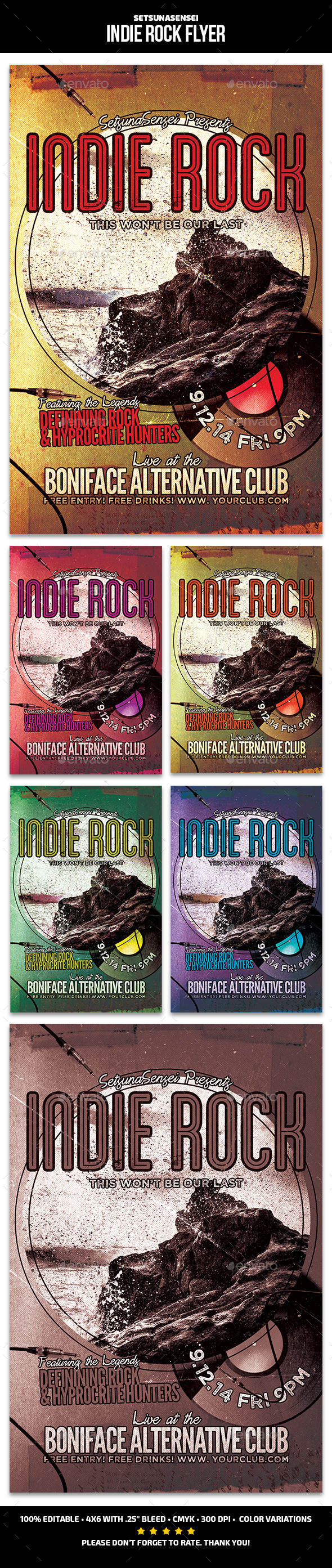 GraphicRiver Indie Rock Flyer 10930050