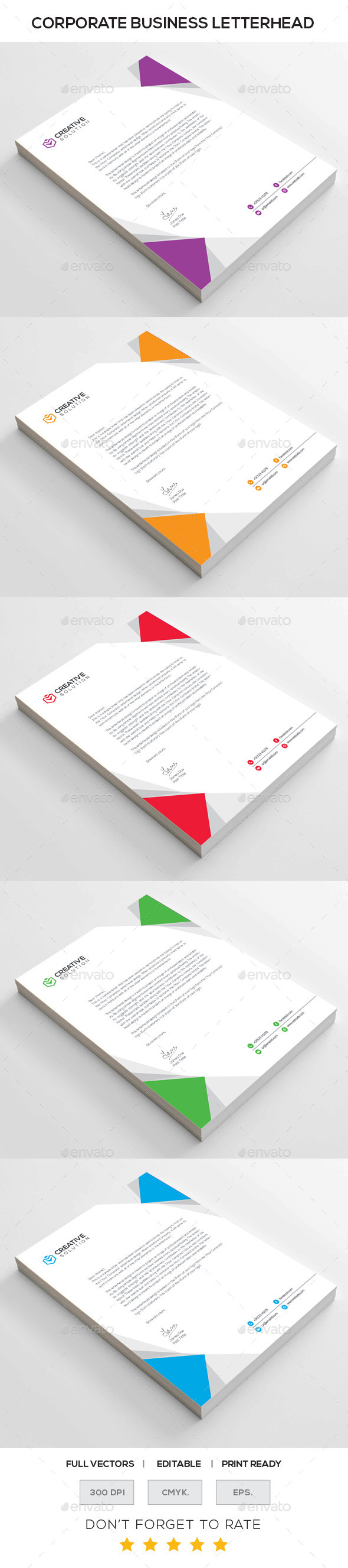 GraphicRiver Corporate Letterhead 10930161