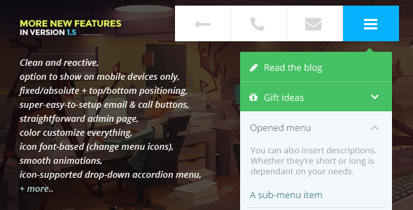 Touchy: A WordPress mobile menu plugin - CodeCanyon Item for Sale