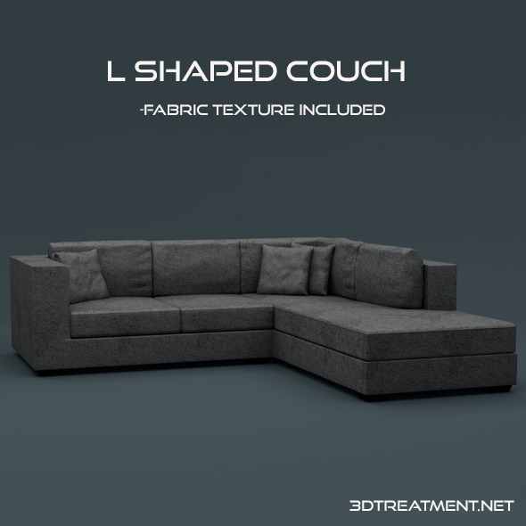 3DOcean L Shaped Couch 10930259