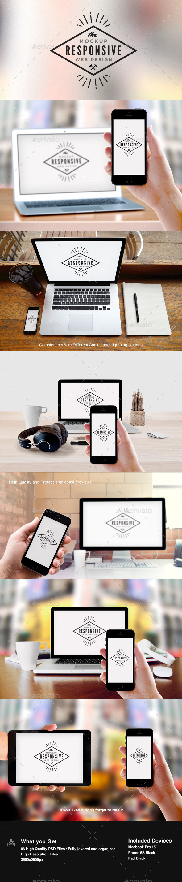 GraphicRiver Responsive Design Screen Mock-Up 10930402