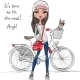 Girl with Bicycle - 1