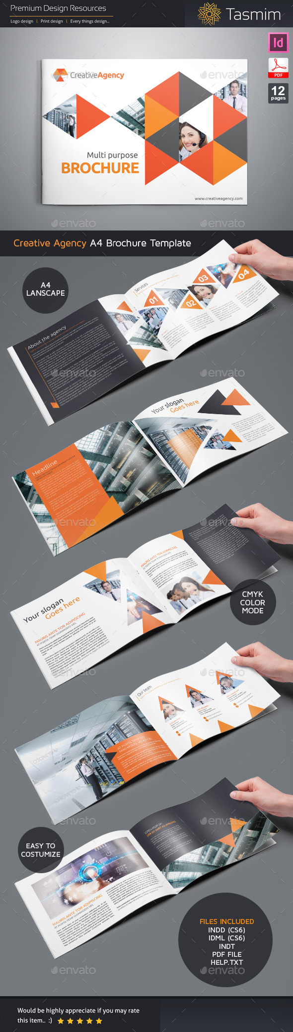 GraphicRiver Creative Agency 2015 Brochure Template 10930660