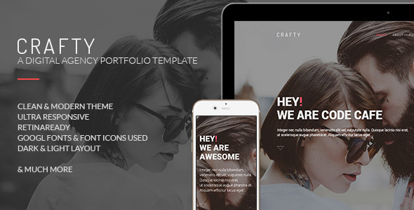 ThemeForest Crafty One Page Digital Agency Template 10776921