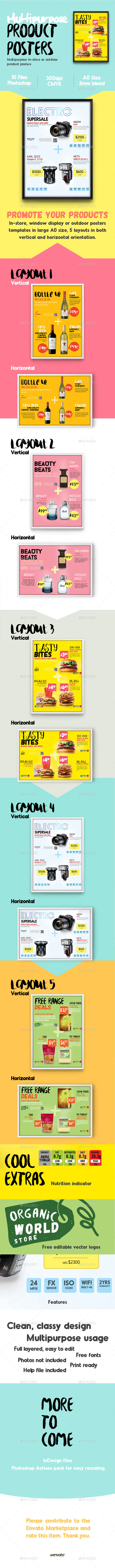 GraphicRiver Multipurpose Product Posters Flyers A0 10930808