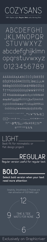 GraphicRiver Cozysans Typeface 10930872