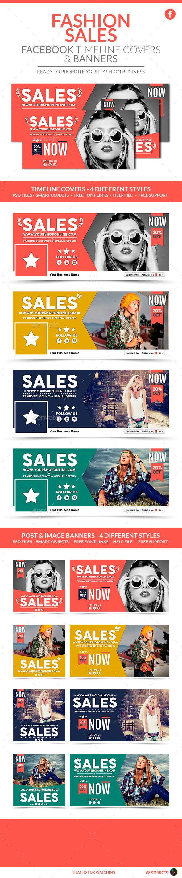GraphicRiver Facebook Pack Fashion Sales 10931163
