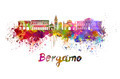 Bergamo skyline in watercolor - PhotoDune Item for Sale