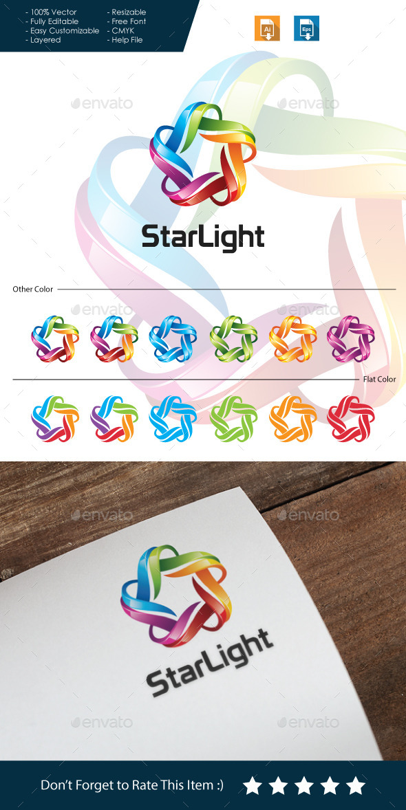 Star Light - 3D Logo