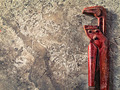 old wrench on concrete  - PhotoDune Item for Sale