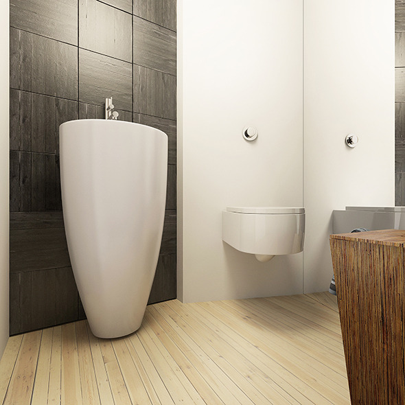 Bathroom Interior Render Setups Scene - 3DOcean Item for Sale