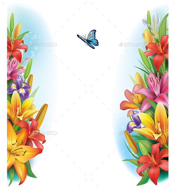 GraphicRiver Border from Flowers 10931268