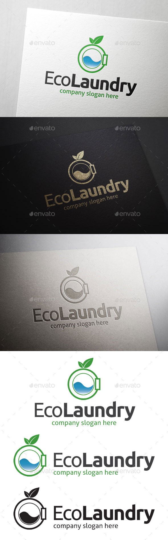 GraphicRiver Eco Laundry Logo 10931283