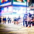 Blurred image of night city street. Hong Kong. - PhotoDune Item for Sale