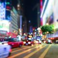 Night cityscape blurred backgroun. Hong Kong - PhotoDune Item for Sale