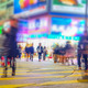Blurred image of night city street. Hong Kong. - PhotoDune Item for Sale
