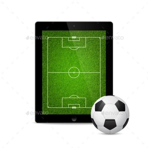 GraphicRiver Tablet Soccer 10931486