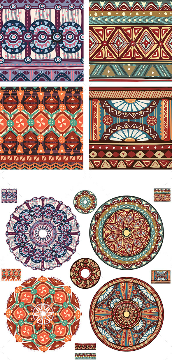 GraphicRiver Tribal Textures 10931528