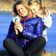 mother and her daughter embrace and smile - PhotoDune Item for Sale