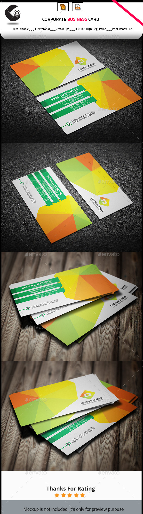 GraphicRiver Abstract Business Card 10931586