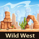 Wild West - tillable horizontal background - GraphicRiver Item for Sale