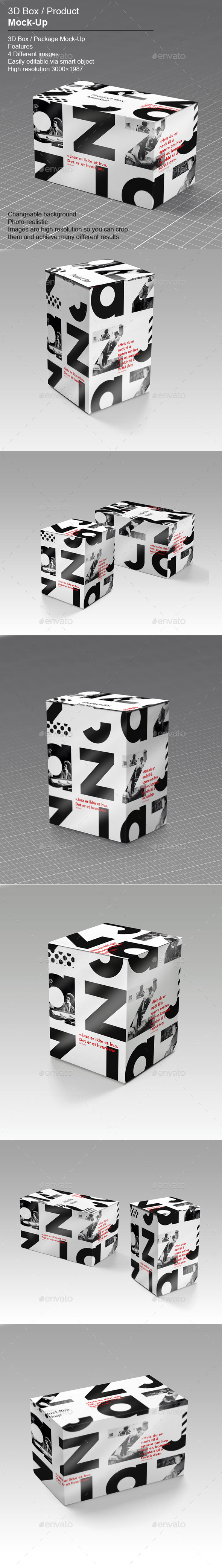 GraphicRiver 3D Box Product Mock-Up v.1 10932073
