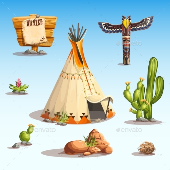 GraphicRiver Wild West Set 10932076