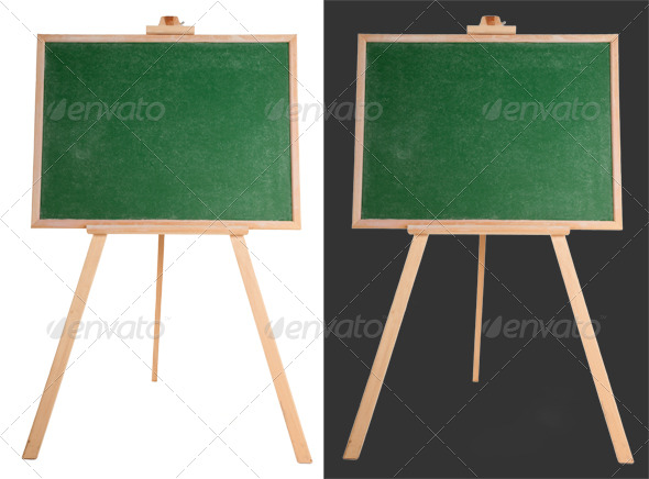 GraphicRiver Blank Green Chalkboard 135756