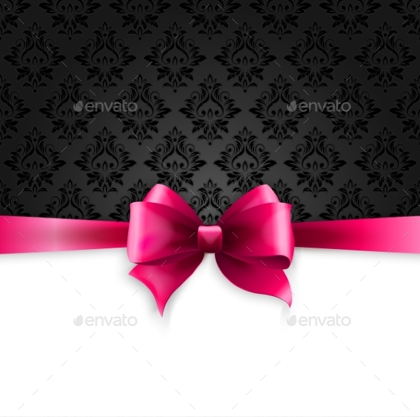 GraphicRiver Invitation Card with Pink Ribbon 10932210