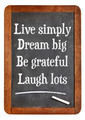 Live simply, dream big, be grateful, laugh lots - PhotoDune Item for Sale