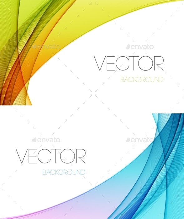 GraphicRiver Abstract Curved Lines Background 10932288
