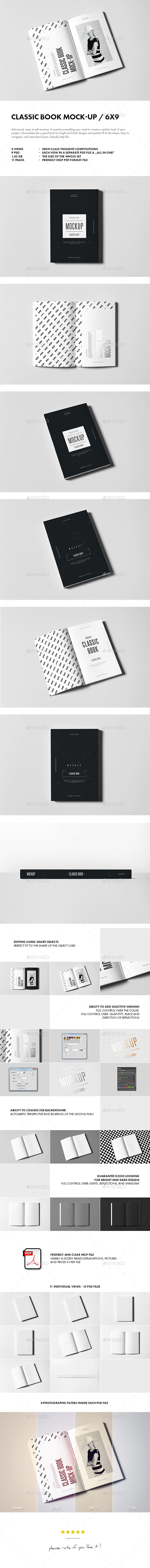 GraphicRiver Classic Book Mock-up 10932311