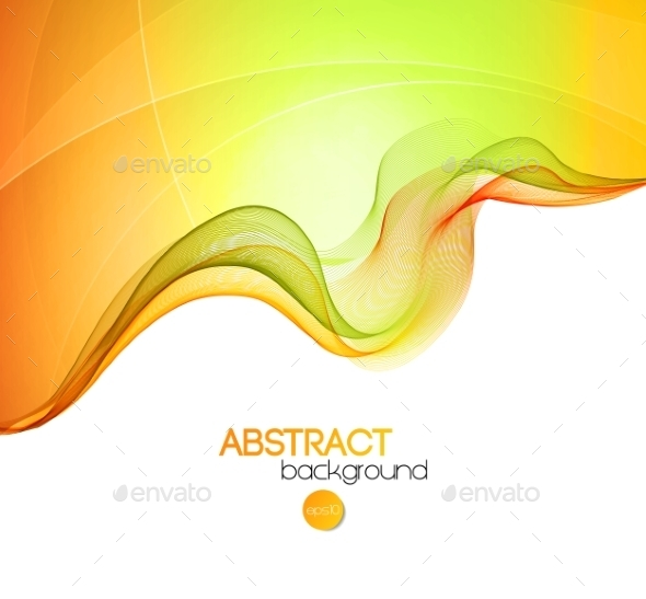 GraphicRiver Abstract Transparent Wave Background 10932350
