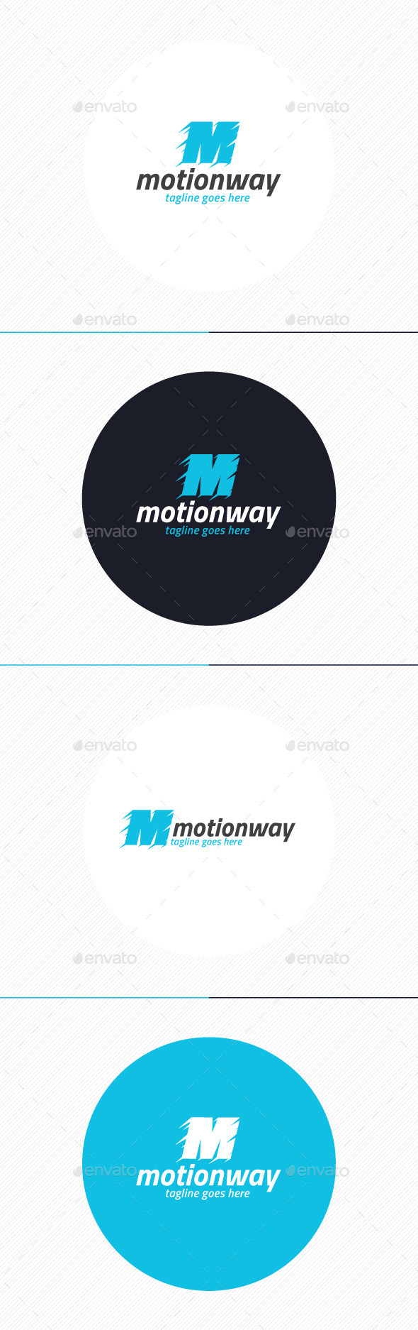 GraphicRiver Motion Way Logo Letter M 10932361