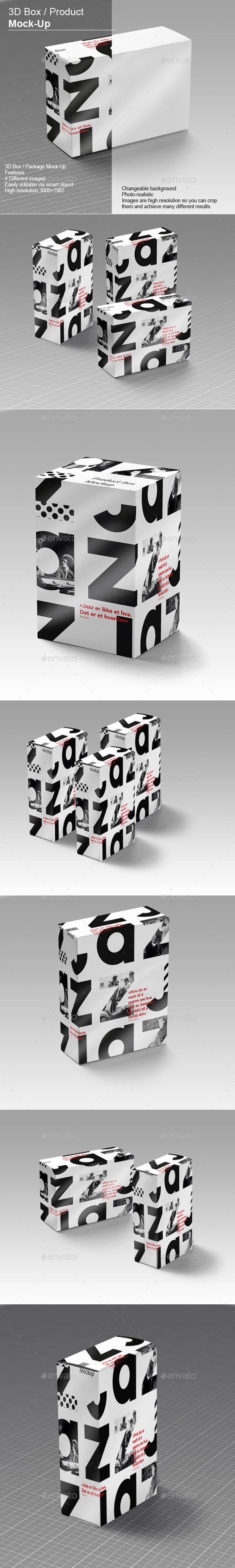 GraphicRiver 3D Box Product Mock-Up v.2 10932382