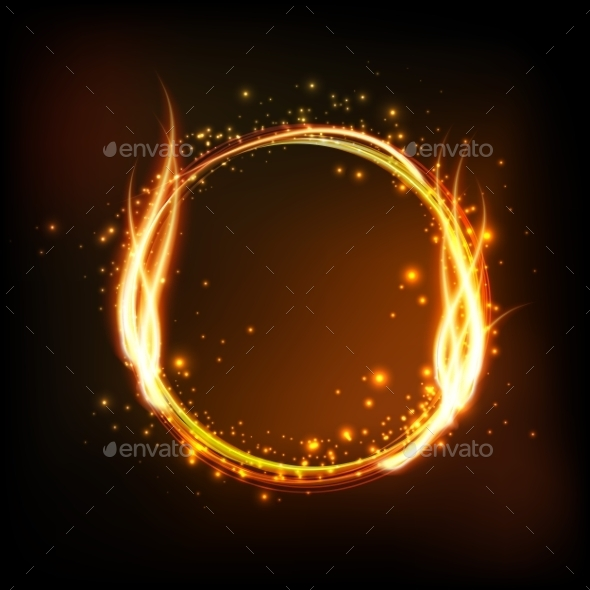 GraphicRiver Round Frame with Flames 10932456