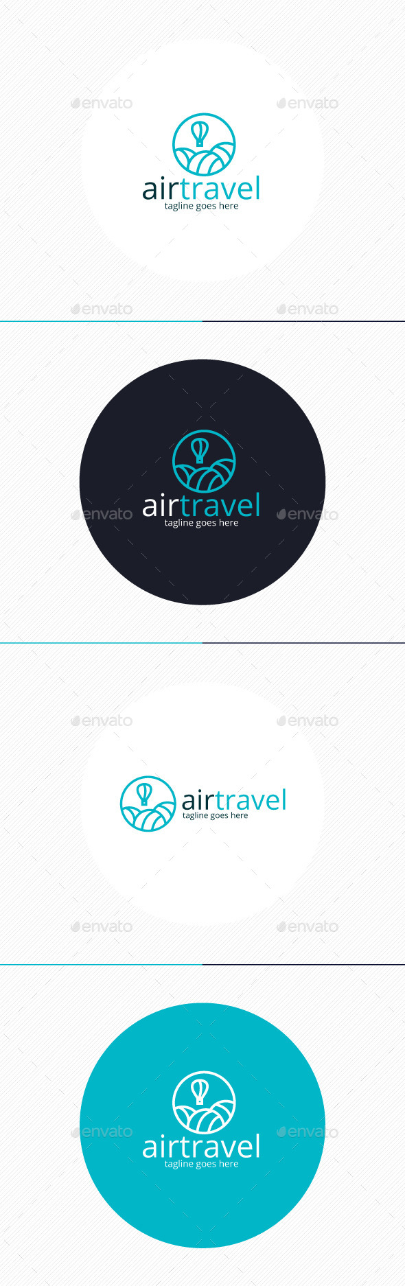 GraphicRiver Air Travel Logo 10932477
