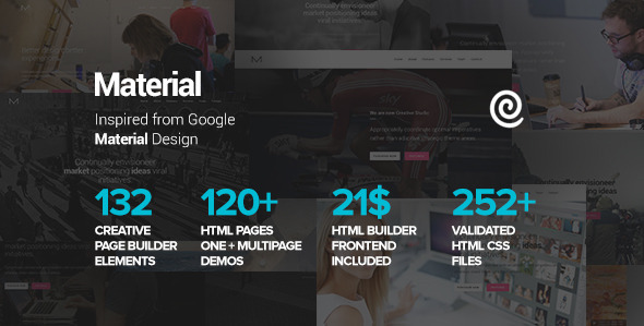 ThemeForest Material Multi-Purpose HTML with Page Builder 10859036