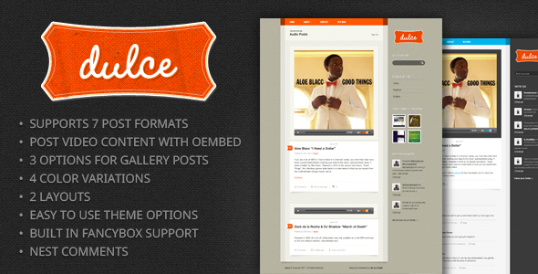 Dulce – A Tumblr Style WordPress Theme  - Personal Blog / Magazine